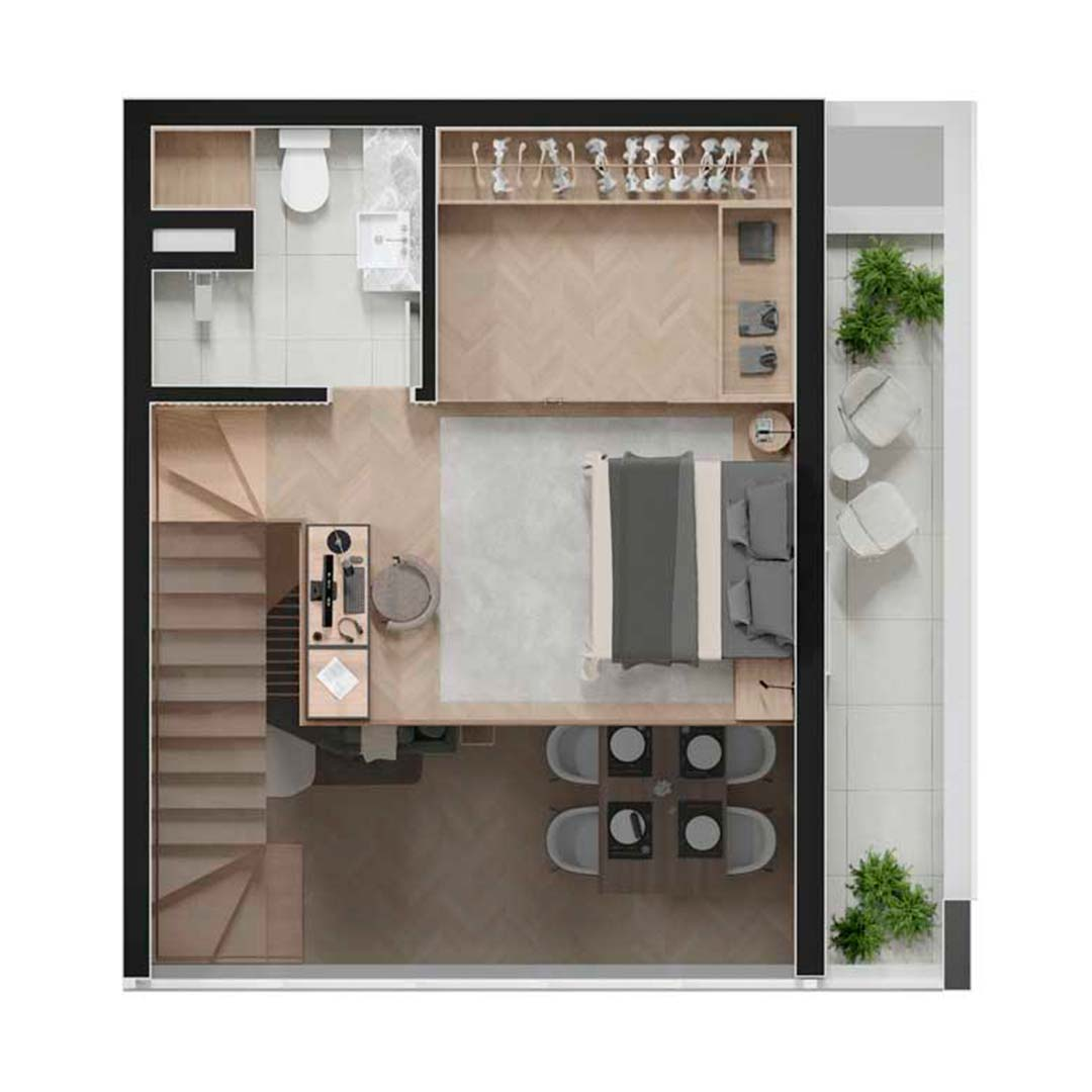 Duplex Superior - 55 e 64m²